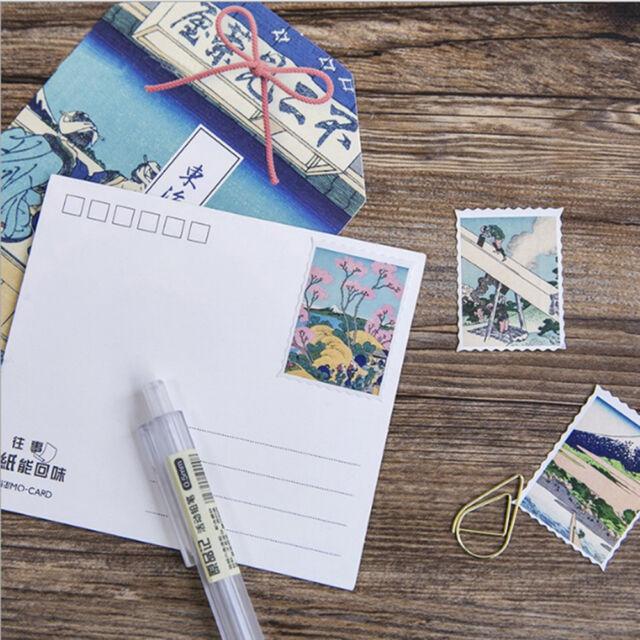 Cute Decorative Japanese Ukiyoe Type Scrapbooking Stickers Letter Stickers