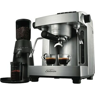 NEW Sunbeam Espresso Machine & Grinder 3 Litre PU6910