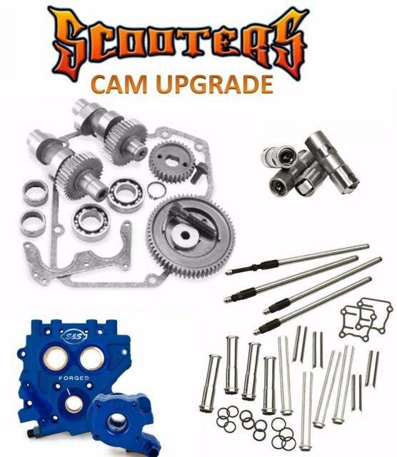 509G S&S Gear Drive Cams Oil Pump TC3 Cam Plate Pushrods Lifters Engine Kit 88""