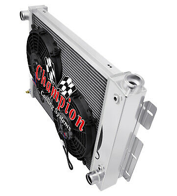 1967-1969 Firebird Big Block All Alum 3 Row KR Champion Radiator Fan Combo