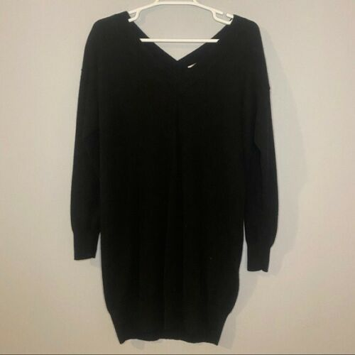 Everlane Black Cashmere Sweater Dress