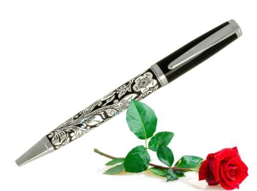Kugelschreiber 3D Flower Stift Ball Pen Kugelschreiber m.Großraum Mine /& Etui