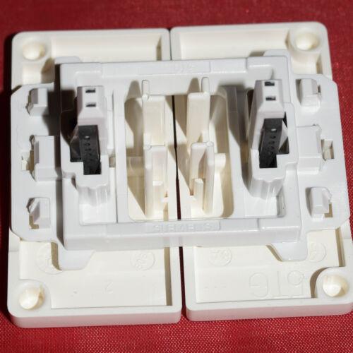 Siemens 5TG6205 Delta 2fach Wippe neutral-titanweiß B67