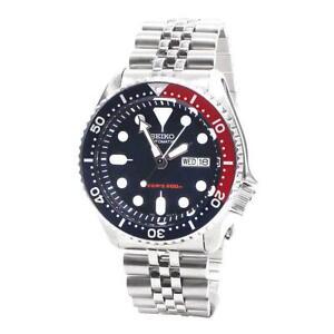Seiko-Diver-s-Automatic-Pepsi-Bezel-Steel-Silver-Jubilee-Mens-Watch-SKX009K2