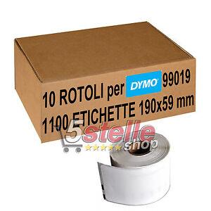10-x-ROTOLI-ETICHETTE-ADESIVE-DYMO-99019-190x59-mm-STAMPANTE-LABELWRITER-400-450