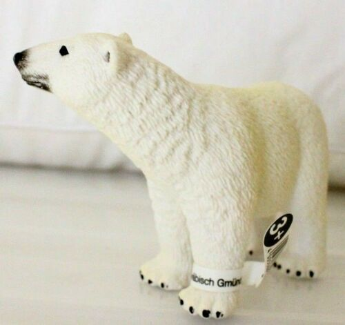 GENUINE BRAND NEW SCHLEICH COLLECTABLE POLAR BEAR AS SHOWN IN IMAGE AU SELLER