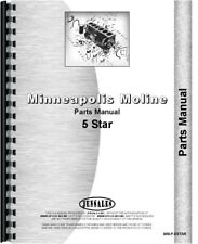 Minneapolis Moline 5 Star Tractor Parts Manual Catalog Sn R1188a