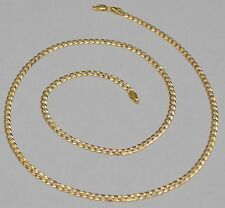 14k Solid Yellow Gold Cuban Curb Link Chain Necklace 20 Inches 5.7 Gr 3.3 mm Q3