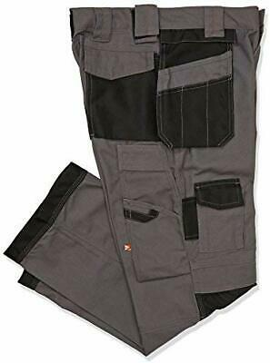 Lee Cooper Grey Cargo Work Trousers With FREE KNEE PADS  LCPNT210-G