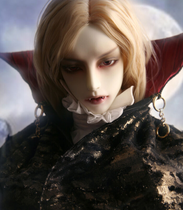 Gluino – Vampiro alquimista con largas manos libres de uñas ojos libre Reemplazo