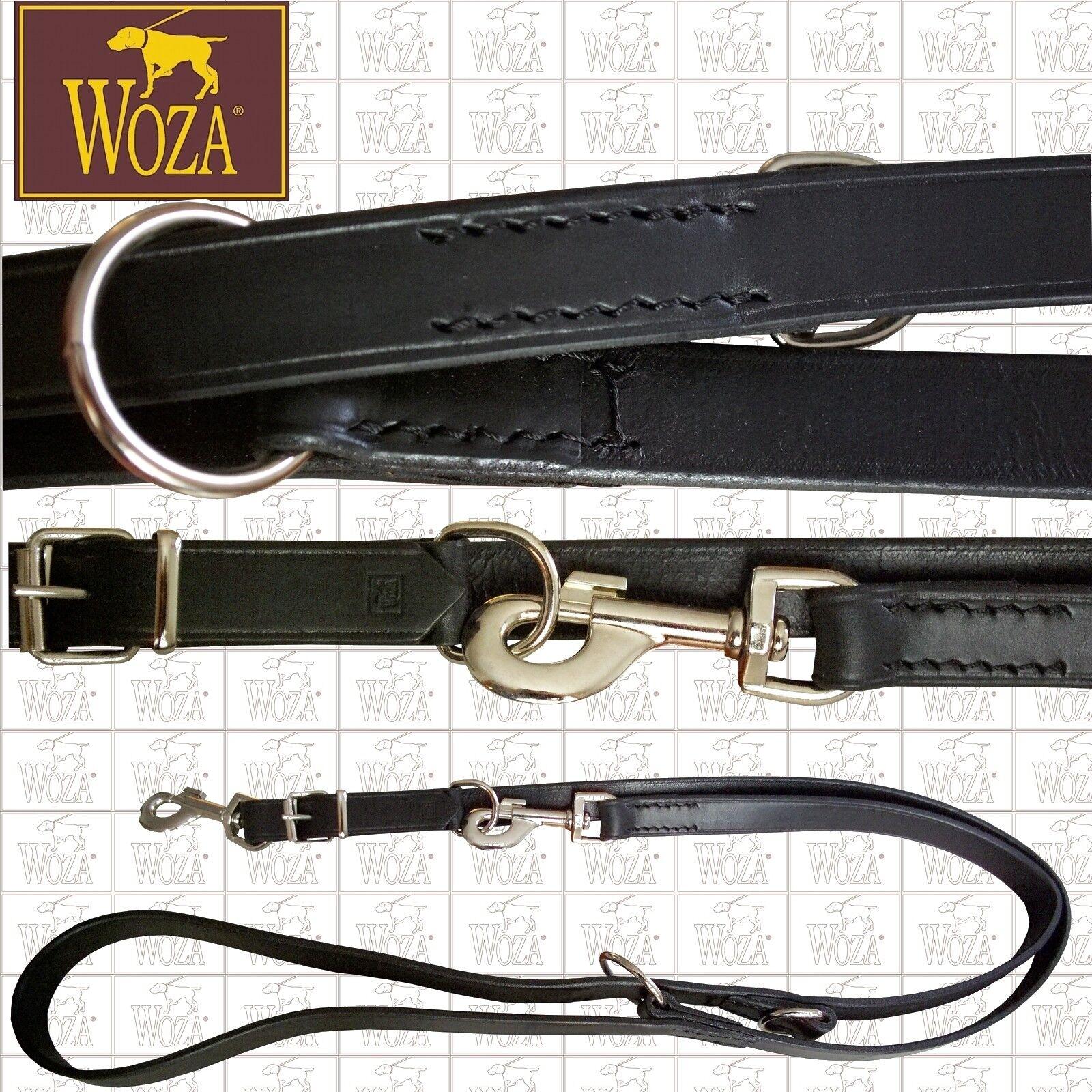 Premium Verstellbare Hundeleine  WOZA WOZA WOZA Handgenäht Vollrindleder Runde Kanten FVBZ  | Glücklicher Startpunkt  cce229