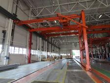 Ces Weco Shepard Niles 10 Ton Single Leg Motorized Gantry Bridge Crane 35 Span