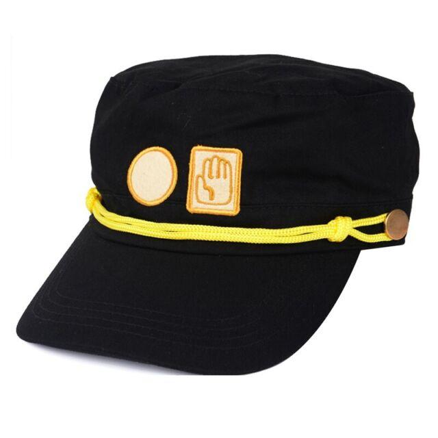 Unisex Anime Jojo's Bizarre Adventure Hat Jotaro Kujou Army Military Cap Fun HDD