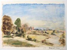Vernon Wethered (1865–1952) landscape watercolour. Bridgnorth, evening. Modern.