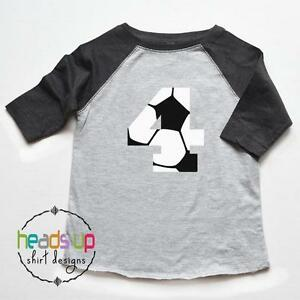 4 Birthday Tee Raglan Boy Girl