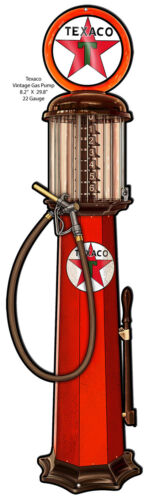 Texaco Cut Out Gas Pump Reproduction Garage Art Metal Sign 8.2x29.8
