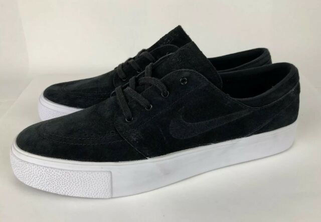 detailed look 7e421 44a73 Nike SB Zoom Stefan Janoski Premium High Tape Black and White Shoes Mens  Size 11