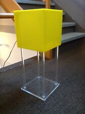 VINTAGE POP MOD TABLE LAMP CUBE LUCITE ACRYLIC LIGHTING RETRO PANTON WARHOL 60'S
