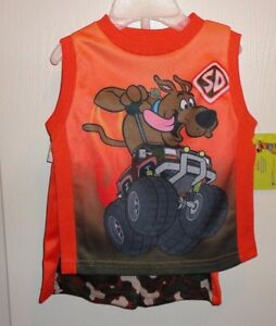 4516fcdfee6 Brand New Scooby-Doo Monster Truck T-Shirt & Camo Shorts Set 12 ...
