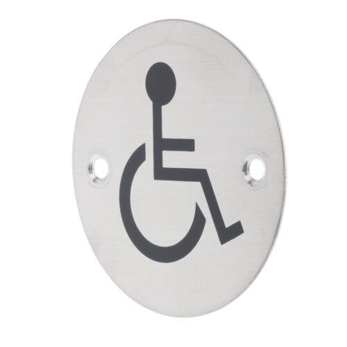 Disabled Plaque Metal Lavatory Restroom Toilet Door WC Sign Men Lady