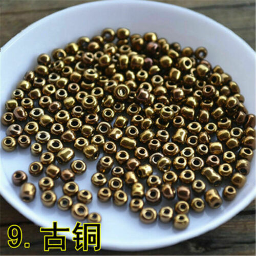 750Pcs Seed Bead Glass Loose Bead Cross Stitch DIY Craft Jewelry Findings 3mm#G
