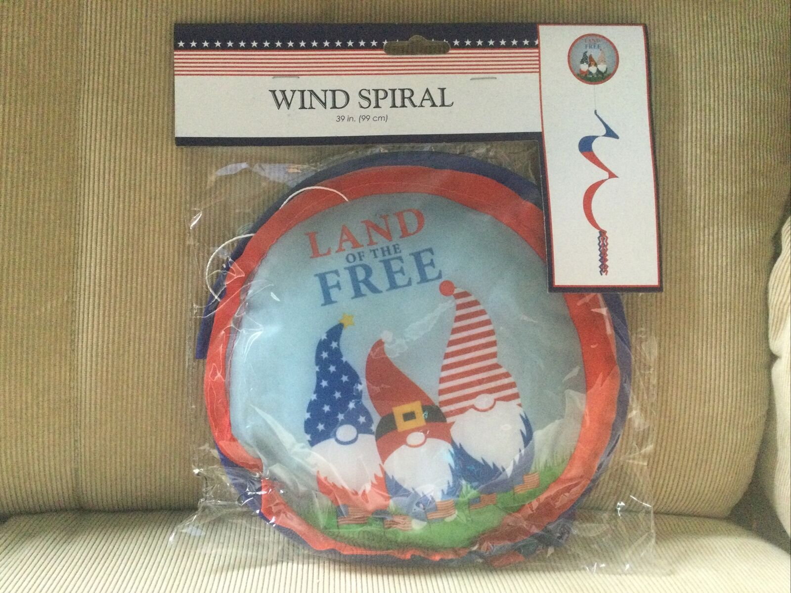 Patriotic Wind Spiral- Land of the Free Gnomes - 39