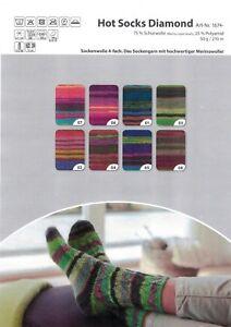 Abverkauf-Sockenwolle-mit-Merino-Gruendl-Hot-Socks-Diamond-50g-4-faedig