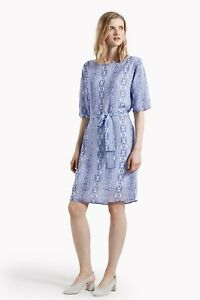 BNWT-NEW-Great-Plains-FRENCH-CONNECTION-Blue-Cuban-Jihay-Style-Dress-TUNIC-XS-8