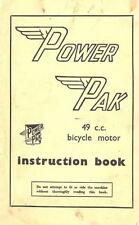 Power Pak 49cc Bicycle Motor Instruction Book on CD
