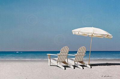 SEASCAPE ART PRINT Soft Sunrise on the Beach 9 by Carlos Casamayor Poster 14x11