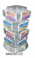 Ays Retail 16 Pocket Counter Gift Card/business Card Holder Display Rack (clear)
