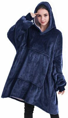 Mens The Blanket Hoodie Student Gift Fluffy /& Soft Big Oversized Sherpa /& Fleece Jumper Giant Zip Up Hooded Wearable Blankets Comfy Womens
