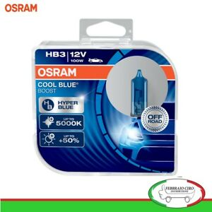 2-Lampade-Lampadine-Osram-HB3-12V-100W-Cool-Blue-Boost-5000K-69005CBB-HCB