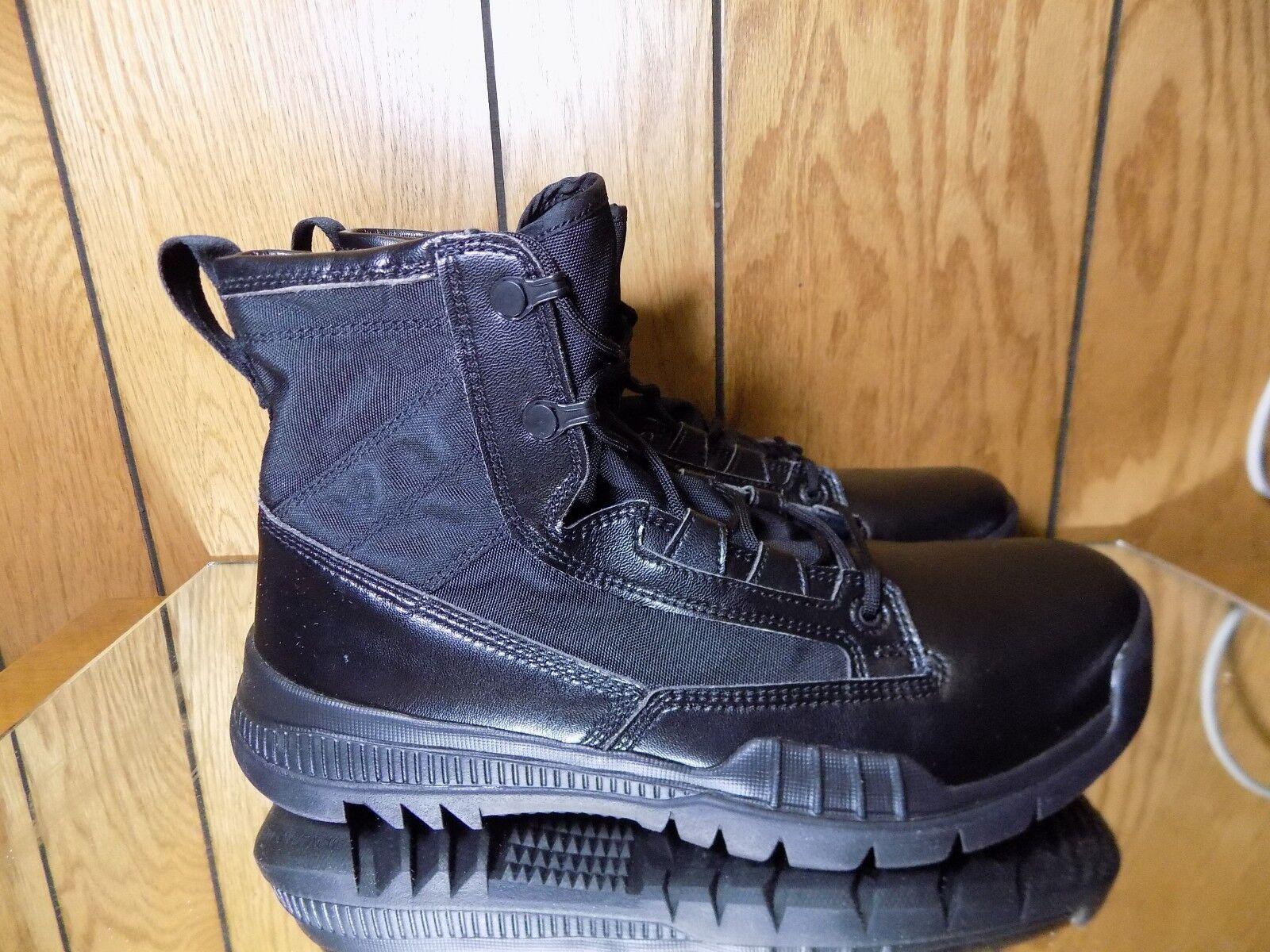 NIKE SFB Field 6 Triple Black Boots First Responder 631360 090 s. 9.5 NEW