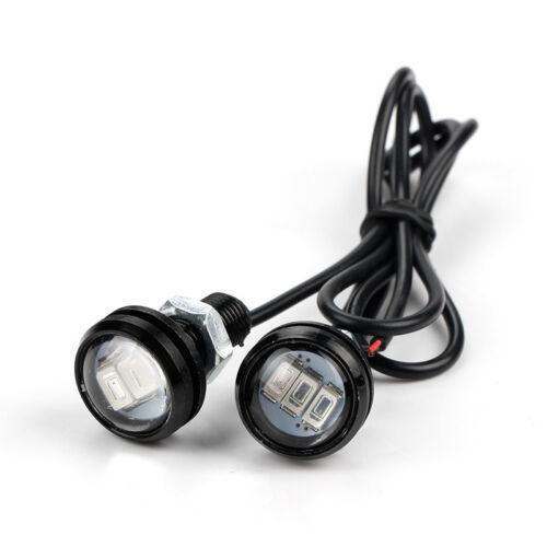 10X 9W 23mm 12V Red LED Eagle Eye Light Car Fog DRL Daytime Reverse Backup Lamp
