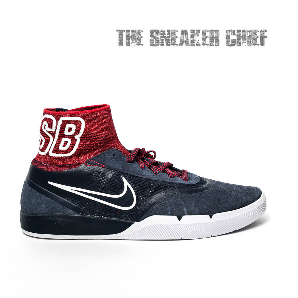 NIKE SB HYPERFEEL KOSTON 3 MENS WHITE SKATE SHOES: 7.5 RED WHITE MENS AND BLUE 819673 446 a3e6b5