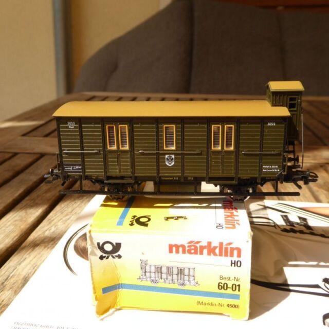 Museo postal carro Märklin 4500 PMS 60-01 h0 1:87 # Å