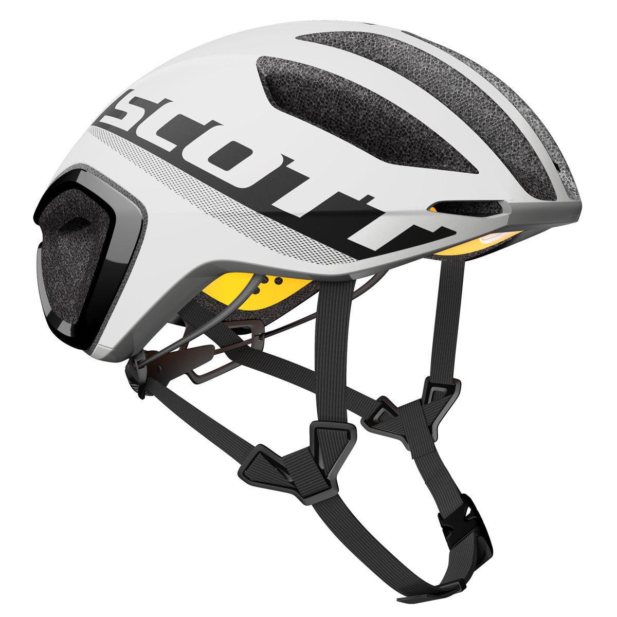 Helm HELMET SCOTT Trittfrequenz PLUS Farbe Weiß schwarz Größe L (59-61cm)