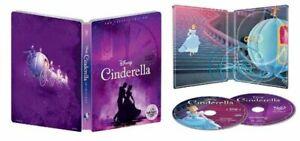 Disney-Cinderella-U-S-Exclusivo-Steelbook-Blu-Ray-DVD-Digital-1950-Clasico