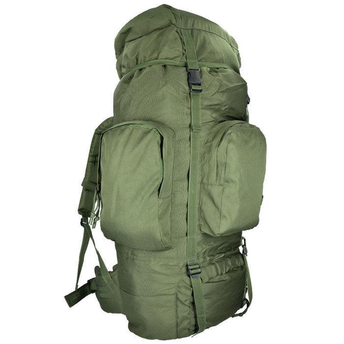 Mil-Tec 88L Taktische Camping Wandern Trekking Rucksack RECOM Backpack Oliv OD