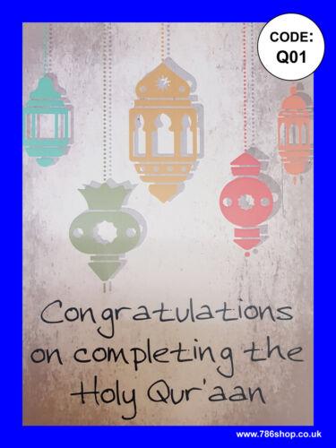 New Design x A5 size Classical design Islamic Quran Congratulations Cards