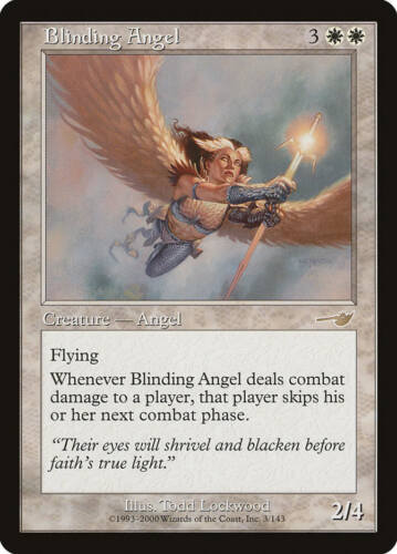 Nemesis MTG X1: Blinding Angel Moderate Play FREE US SHIPPING! R
