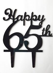 Image Is Loading Happy 65th Birthday Anniversary Number Cake Topper Party