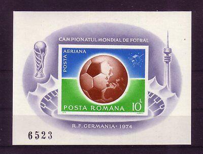 Erfrischung fußball-wm 1974:14301 Rumänien Michelnummer Block 115 Postfrisch