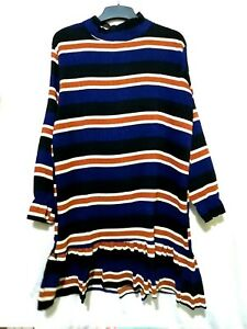 winkled-fabric-Striped-dress