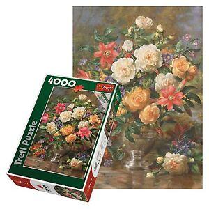 trefl 4000 piece adult large flowers queen elizabeth vase floor jigsaw puzzle ebay. Black Bedroom Furniture Sets. Home Design Ideas