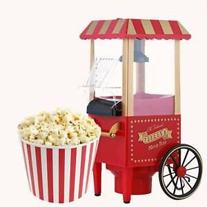 Retro Popcorn Maschine Popcorn Maker Pop Corn Popkorn Fettfrei Rot 1200W