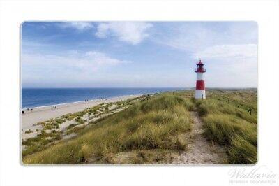 Leuchtturm Düne Wallario Frühstücksbrettchen 14 x 23 cm Am Strand Sylt