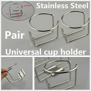 2x Cup Holder 304 Stainless Steel Boat Yacht Ship Trailer Car Marine Hardware