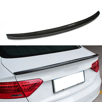 Mosion Auto Carbon Fiber Rear Trunk Boot Spoiler for Audi A6 C7 Saloon 2012-2018